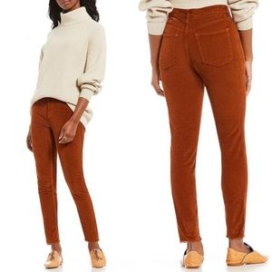 Free People High Rise Corduroy Skinny Pants